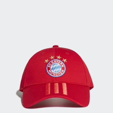 FC Bayern 3-Stripes Caps Rød