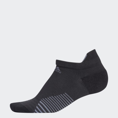 Running Black Run Tabbed No-Show Socks