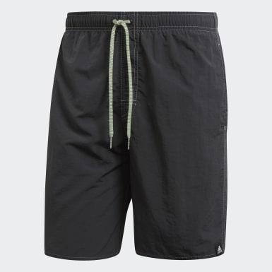 Men Swimming Grey Solid Swim Shorts