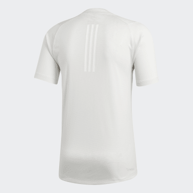 Men Training White FreeLift 360 Fitted Climachill Tee
