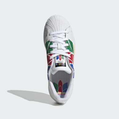 เด็ก Originals สีขาว รองเท้า Superstar Pure
