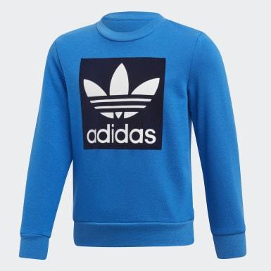 Children Originals Blue Crew Sweatshirt Set