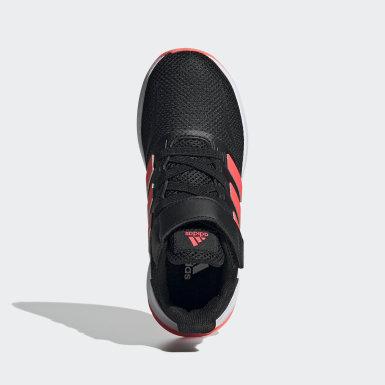 Children Running Black Run Falcon Shoes
