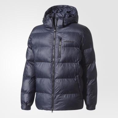 синий Утепленная куртка Hooded