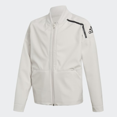 Kids Athletics White adidas Z.N.E. Reversible Bomber Jacket