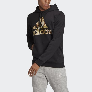 Hoodie Essentials Camouflage Nero Uomo Athletics