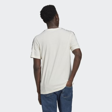 Men Originals White SPRT 3-Stripes Tee