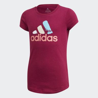 Camiseta Estampada Roxo Meninas Training