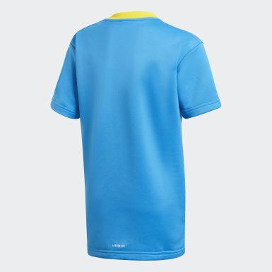 T-shirt adidas x Classic LEGO® Bricks Loose Fit Blu Bambini Training
