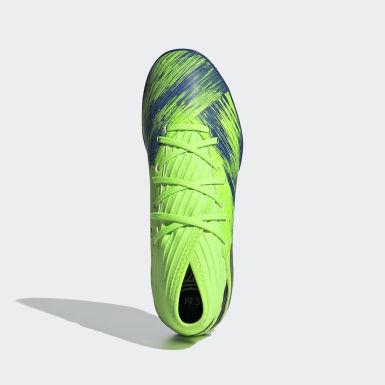 Boys Fodbold Grøn Nemeziz 19.3 indendørsstøvler
