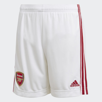Kids Football White Arsenal Home Shorts