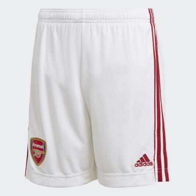 Calções Principais do Arsenal Branco Criança Futebol