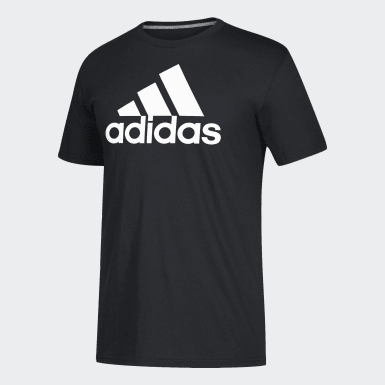 Men's Sport Inspired Black Badge of Sport Tee