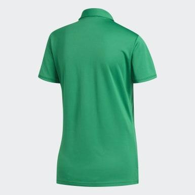 Women Golf Green Tournament Polo Shirt