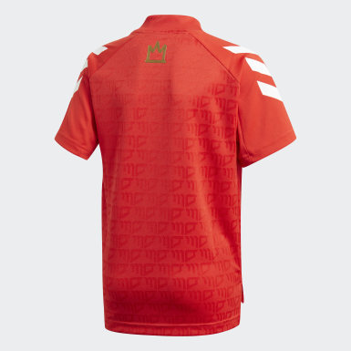 Maillot Salah Football-Inspired rouge Adolescents Entraînement