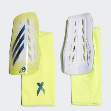 Football Yellow X League Shin Guards