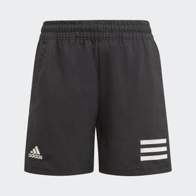Jungen Tennis Club Tennis 3-Streifen Shorts Schwarz