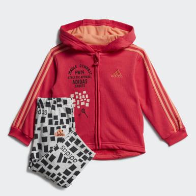 Infants เทรนนิง สีชมพู ชุดเสื้อและกางเกง Graphic Hooded Jogger