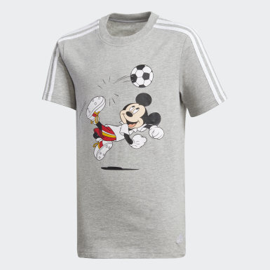 Jungen Training Football T-Shirt Grau