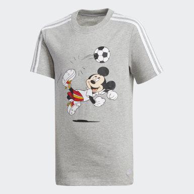 T-shirt de Futebol Cinzento Rapazes Treino