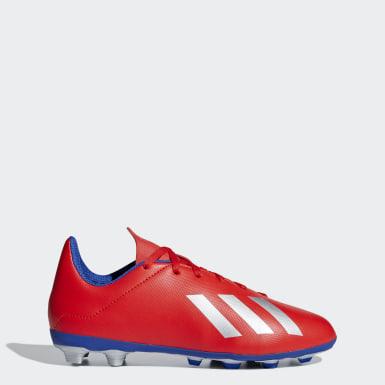 calzado de fútbol X 18.4 Multiterreno Rojo Niño Fútbol