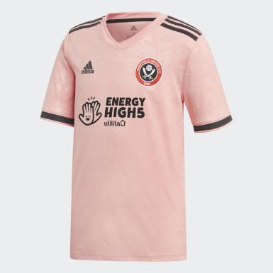 Børn Fodbold Pink Sheffield United 20/21 udebanetrøje