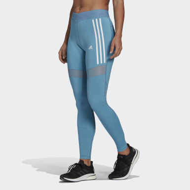 Frauen Running Mesh Tight Blau
