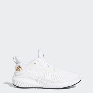 Women Running White Alphabounce+ Shoes