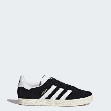 Youth 8-16 Years Originals Black Gazelle Shoes
