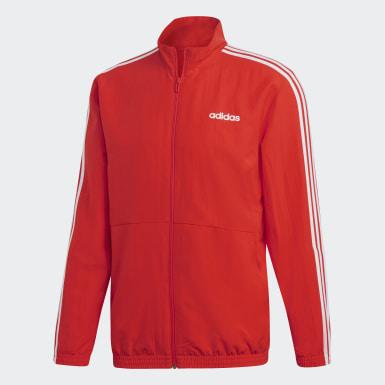 Männer Athletics 3-Streifen Woven Cuffed Trainingsanzug Rot