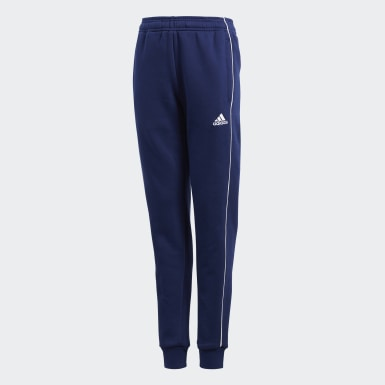 Youth 8-16 Years Training Blue Core 18 Sweat Tracksuit Bottoms