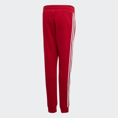 Kids Originals Red 3-Stripes Pants