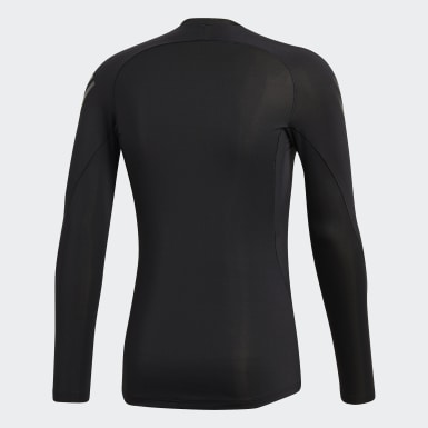 Men's Training Black Alphaskin Tech 3-Stripes Tee
