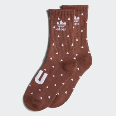 Originals Brown Pharrell Williams Premium Basic Crew Socks (Medium Brown)