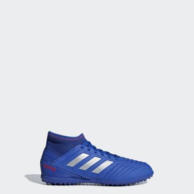 Zapatos de Fútbol Predator Tango 19.3 Césped Artificial Azul Niño Fútbol