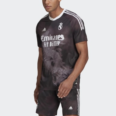 Men Football Black Real Madrid Human Race Jersey