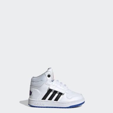 Børn Basketball Hvid Hoops Mid 2.0 sko
