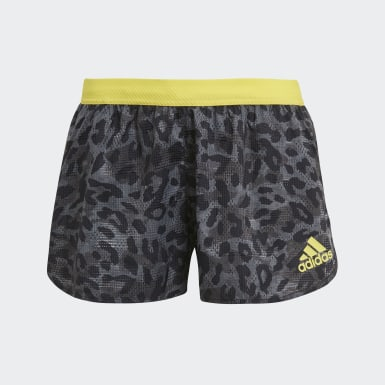 Women Running Grey Adizero Split Shorts
