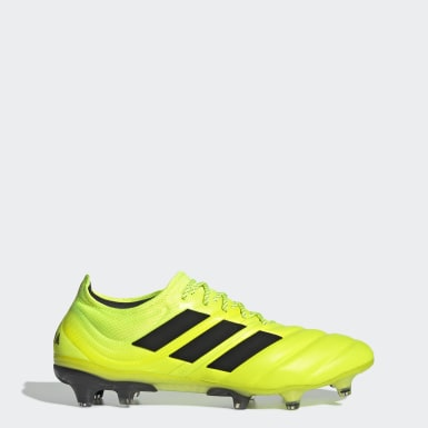Calzado de Fútbol Copa 19.1 Terreno Firme Amarillo Hombre Fútbol