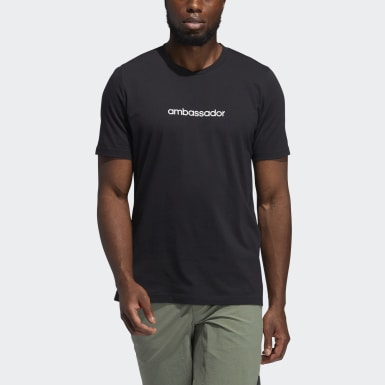 Men's Golf Black Adicross Concert Tee
