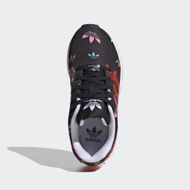 Kids 4-8 Years Originals Black ZX Flux Shoes