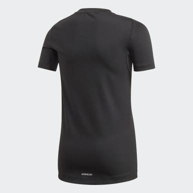 Boys Yoga Black Techfit T-Shirt