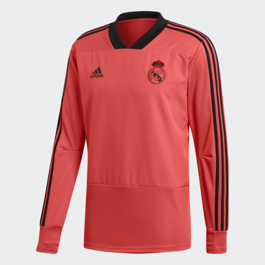 Men Football Red Real Madrid Ultimate Training Top