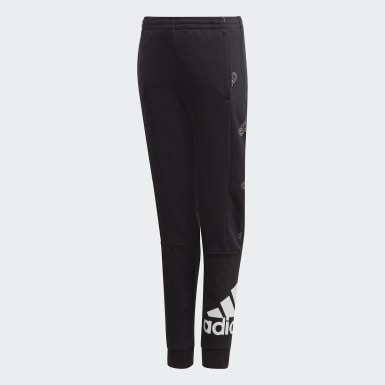 Boys Athletics Black Classics Allover Print Pants
