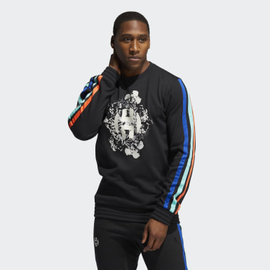 Mænd Basketball Sort Harden Fleece Crew sweatshirt