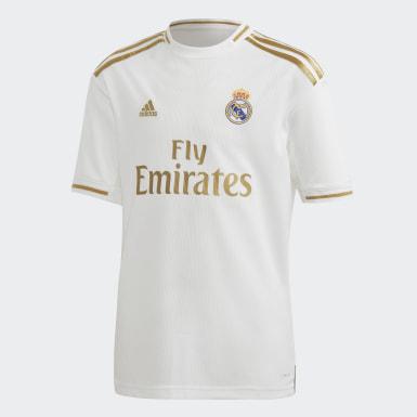 Kinder Fußball Real Madrid Mini-Heimausrüstung Weiß