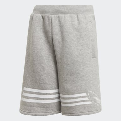 Jungen Originals Outline Shorts Grau