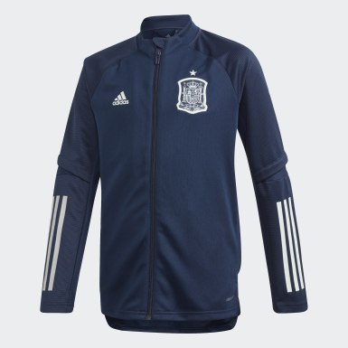 Casaco de treino da Espanha Azul Criança Futebol