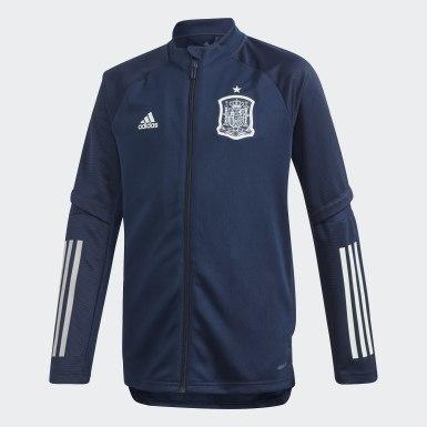 Børn Fodbold Blå Spain træningsjakke