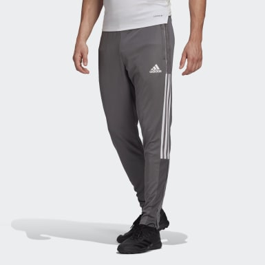 Men Football Grey Tiro 21 Track Pants